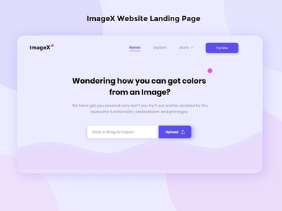 ImageX Website Landing Page interface experience process vector illustration color palette color image editing image illustrator vector adobe adobexd dark uiux creative design idea concept clean creative design