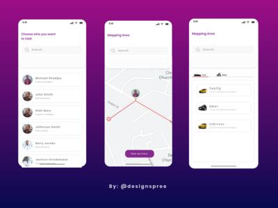 Visit to a Friends Place App