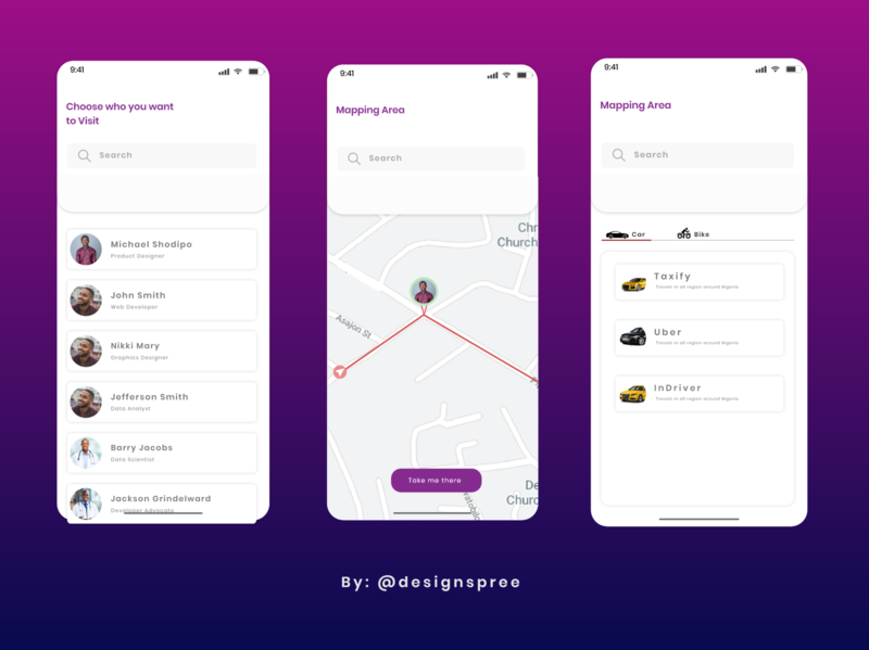 Visit to a Friends Place App playoff adobexdplayoff madewithadobexd ux uiux clean ui ui visit map place friends challenge creative design creative design adobexd clean app