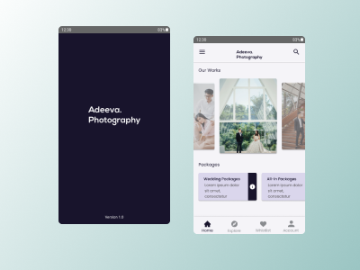 Adeeva Photography App bridal uidesign app photography design