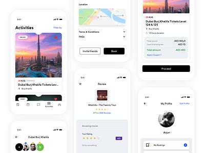 Booking App ios app ios app design app interaction design product design ux ui