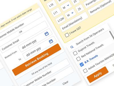 UI Elements webapp design ux minimal ui
