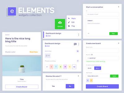 Elements snippet web minimal clean snippets assets dashboard design ux ui widget widgets