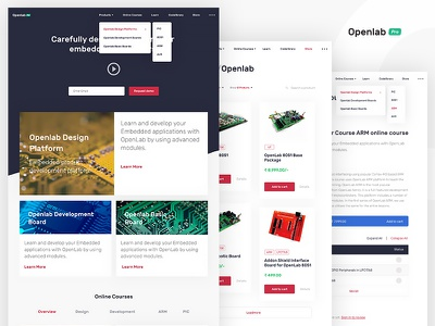 Openlab Store Ecommerce store ecommerce home page landing page website embedded platform openlab