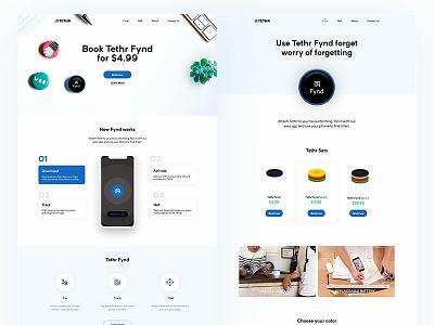 Tethr Landing Page web design ui minimal website clean design home page landing page