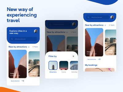 Travel App app ux minimal ui