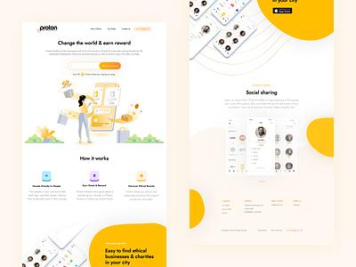 Proton8 Website web landing ui illustration web design website clean design home page landing page minimal