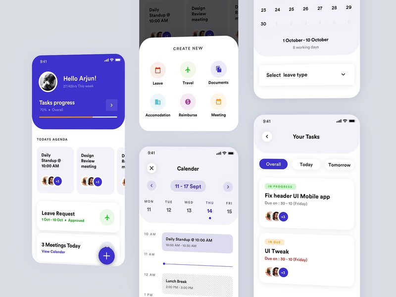 Tasky App userexperiencedesign user interface minimal ui  ux ui uidesign mobile app design mobileui mobile application app