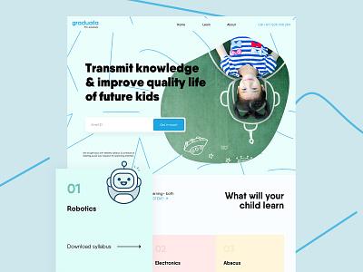 Graduata website design ui minimal web web design website clean flat design home page landing page