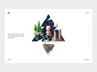Design Page personal dragon 3d minimal portfolio design animation blog