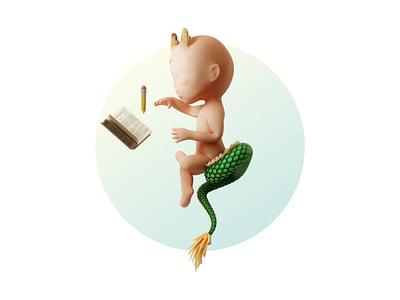Writing Page minimal animation transition 3d dragon portfolio write blog personal