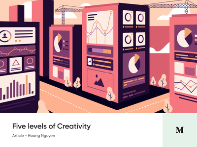 #Article 1 - Five Levels of Creativity system article medium blog creativity design