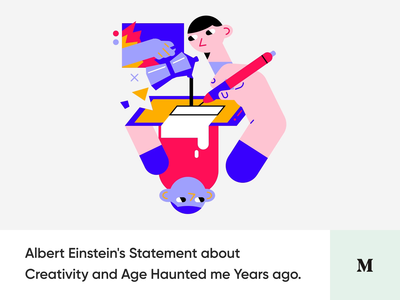 Creativity Age Limits & 6 Ways to Generate Ideas - #6 Article albear einstein generate ideas limits creativity blog medium