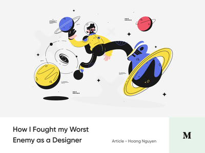 #14 How I Fought my Worst Enemy as a Designer design animation illustration enemy ego article medium story