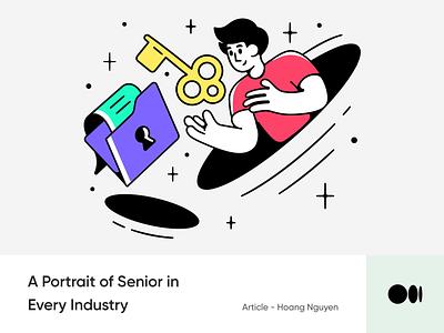 #19 A Portrait of Senior in Every Industry mindset portrait story blog illustration animation senior medium