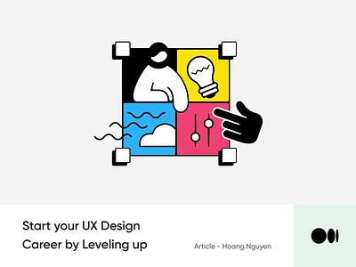 #23 Start your UX Design career by leveling up animation illustration article blog medium learning knowledge tips design ui ux