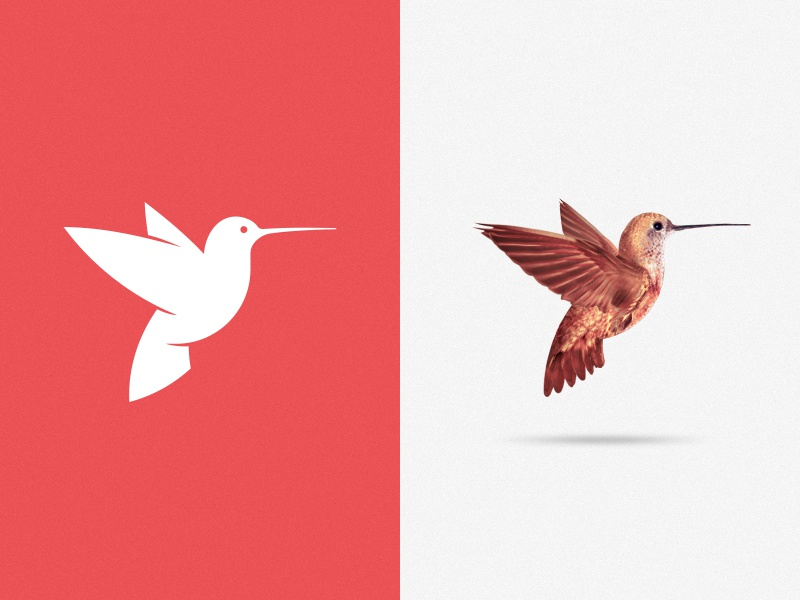 The living logo! (W.I.P) logo branding mark logo design bird hummingbird engine theme red viet nam vietnam