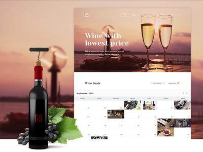 Wine Deals Site web event deal wine grape clean clear light calendar listing ui ux