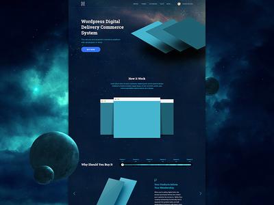 Commerce System Landinge Page (Space Version) space stars universe rocket themes wordpress landing page web design web app commerce viet nam
