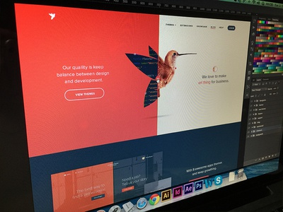 Screen Shot HomePage red theme engine hummingbird bird branding logo redesign wordpress web viet nam vietnam