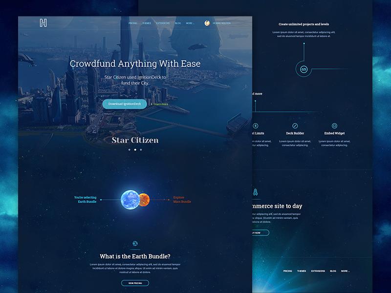 Commerce System Landinge Page (Space Version 2) commerce app web design landing page wordpress themes rocket universe stars space viet nam vietnam