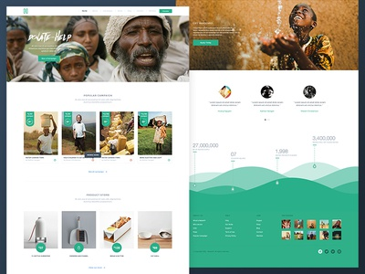 Charity Water Home water charity theme home green crowdfunding store campaign shop volunteer africa vietnam