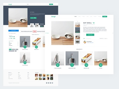 Store - Product Details crowdfunding green home theme charity store product minimalist clean ecommerce