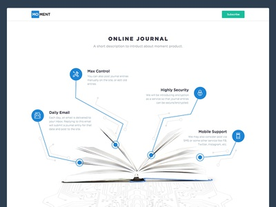 Online Digital Journal Landing Page