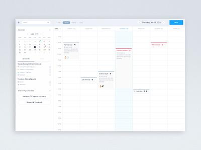 Calendar Free Sketch Download tasks hour day simple clean sketch app free freebie dashboard calendar