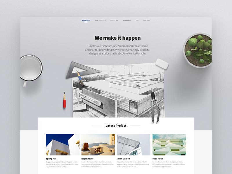 Builder HomePage house clean landingpage homepage theme website ui builder real estate