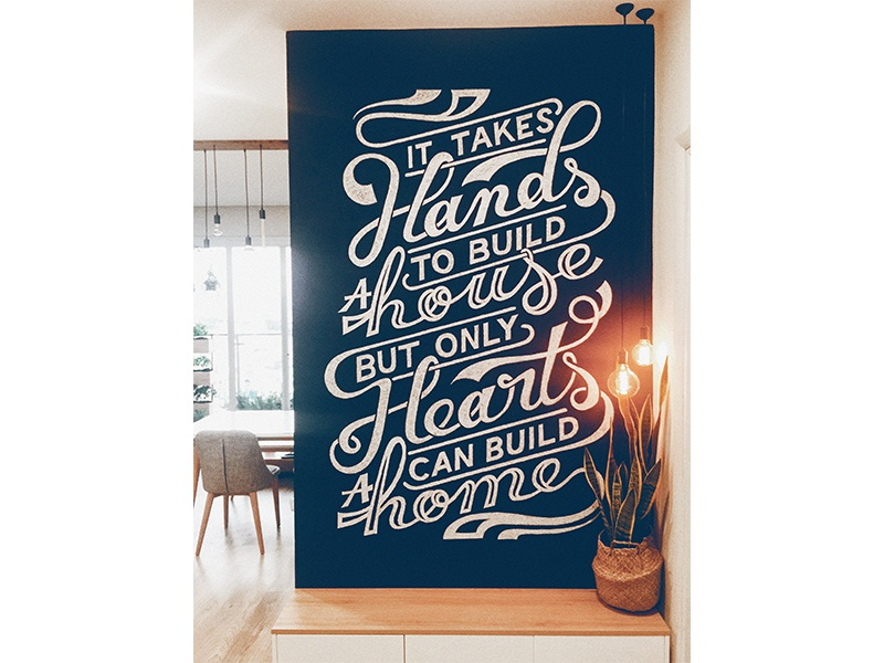 The Welcome Sreen wall black writting hand typography home house