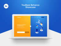 YouBase Behance Showcase information data robot connect landing page home health website illustration redesign gif vietnam