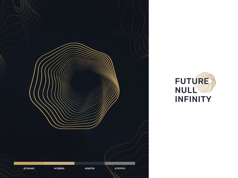 Black Hole Edge Logo Concept mark logo future space outermost line galaxy infinity black hole hole wave