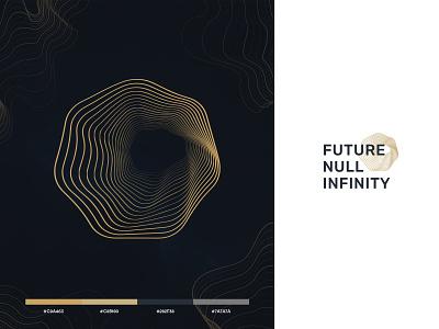 Black Hole Edge Logo Concept mark logo future space outermost line galaxy infinity black hole hole wave