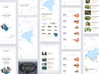 Fishing Application Concept catching iphone x chance nearby recipes cooking fish location lake fishing