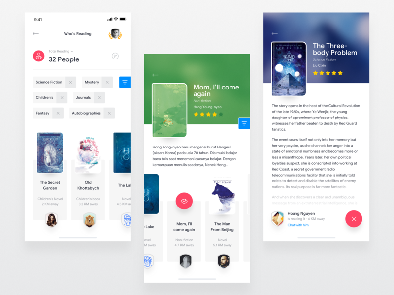 Book Lover Application by Hoang Nguyen on Dribbble