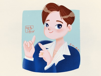 Suga BTS dynamite artwork procreate illustration design simple suga bts
