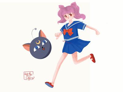 Chibiusa mangaart manga sailor artwork illustration procreate design sailor moon