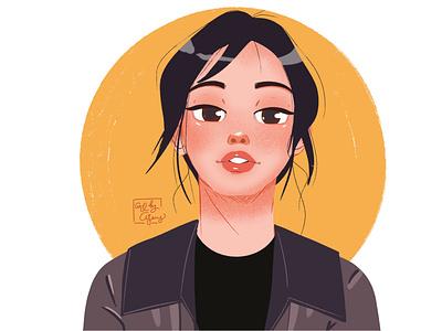 Jennie Blackpink character design kpop jennie blackpink jennie blackpink mangaart procreate artwork illustration design