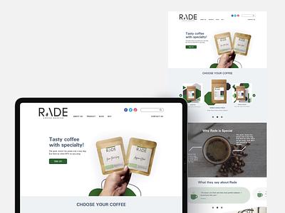 Rade Coffee Roaster website branding web vector ui design