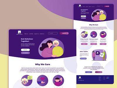 Alzheimer Indonesia in Nederland ui affinity designer web branding vector design
