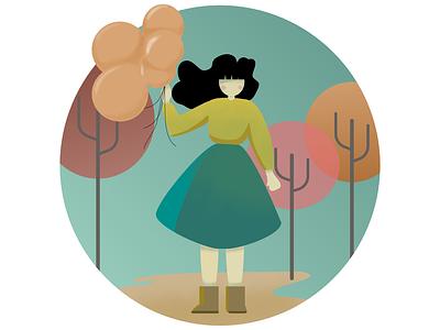 Balloons illustration flat affinity designer vector