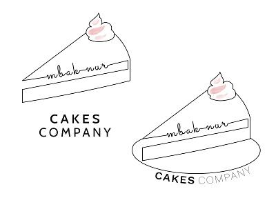 Cake shop branding logo icon design branding affinity designer vector