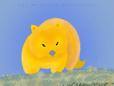 Yellowombat australia illustrations procreate flat illustration design