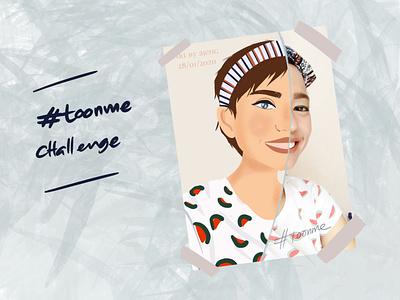 #toonme challenge justforfun design flat vector procreate illustration