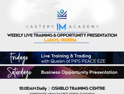 eFlyer Design for IM ACADEMY