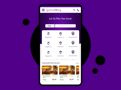 Venue Booking App UI Design