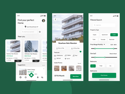 Apartment Rent App home rent a home adobe xd clean ui responsive online booking booking app rent home home booking booking realstate apartment rent rental