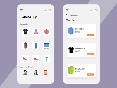 Online Cloth Buying App