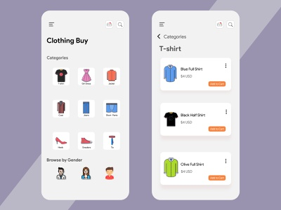 Online Cloth Buying App coffee app chittagong online app minimalistic minimal app minimal design clean design ecommerce online shop app ui ecommerce shop ecommerce app adobe xd